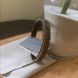 Swarovski Press Stud Bracelet Smoky Quartz NWT